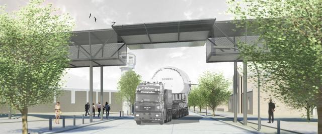 Brücke JVA Plötzensee offen