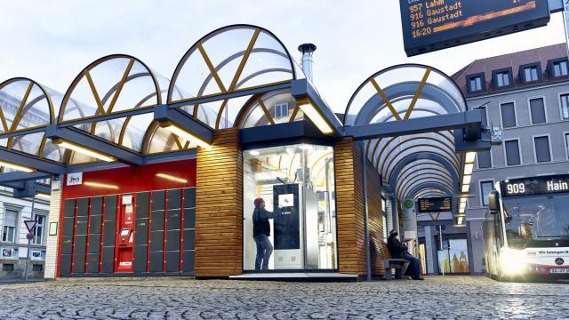 Kleinkraftwerk am Zentralen Omnibus-Bahnhof in Bamberg