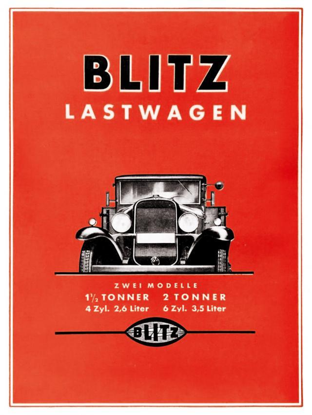 Plakat Blitz Lastwagen