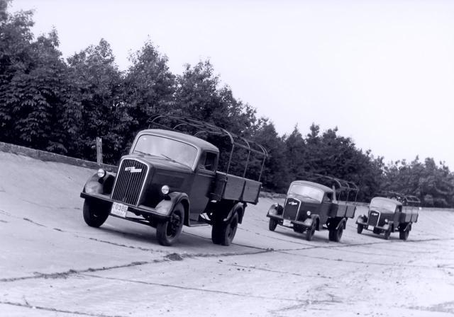Opel Blitz 1,5 t auf Testfahrt