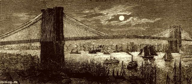 Hängebrücke über den East River