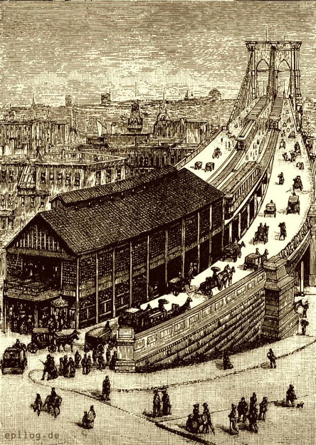 Aufgang zur East Riverbrücke