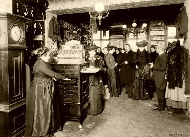 Geschäft für Restposten in Berlin, Anfang 20. Jh.
