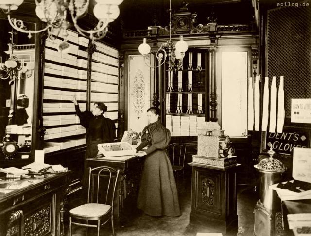 Handschuhhandlung von C. Schapski, Berlin, Anfang 20. Jh.