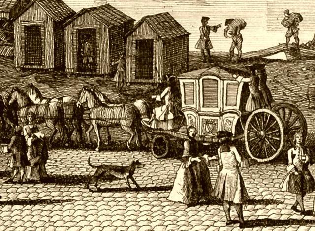 Kutsche in Paris, 1729