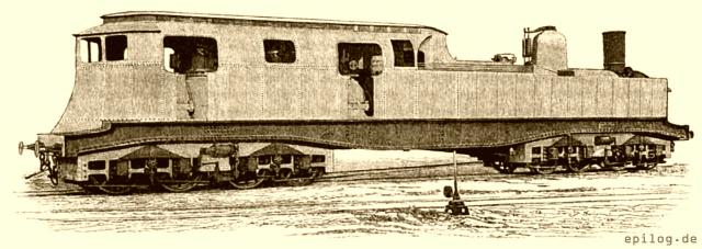 Elektrische Lokomotive von Heilmann – Ansicht